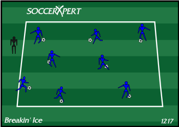 Soccer Drill Diagram: The Greeting Game