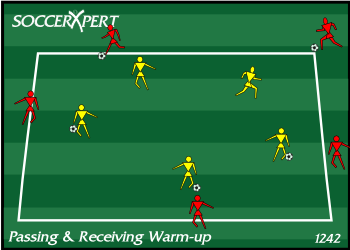 Soccer Drill Diagram: Passing and Receiving Warm-up