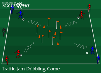 Traffic Jam Dribbling Game