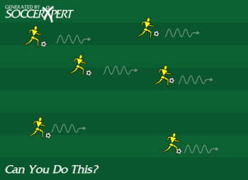Soccer Drill Diagram: Can You Do This?