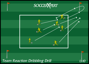 Team Reaction Dribbling Drill