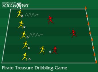 Soccer Dribbling Game - Pirate Treasure