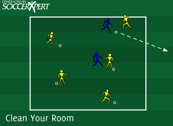 Soccer Drill Diagram: Clean Your Room