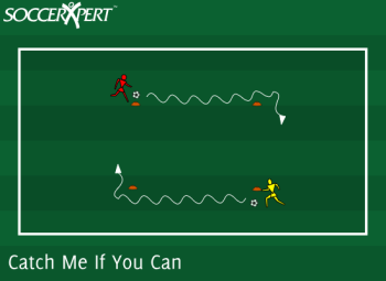Soccer Drill Diagram: Catch Me If You Can